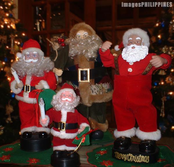 """""""Santa Clauses"""",  Place Taken: Metro Manila take on  Date Taken: 2003"""