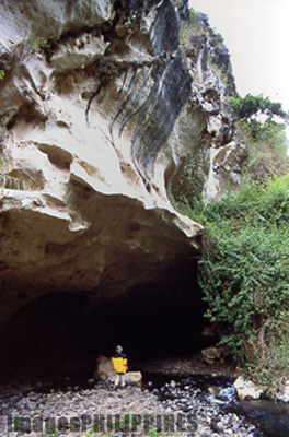 Entrance to the Latang Underground River.,  Place Taken: Mountain Province take on  Date Taken: 2002