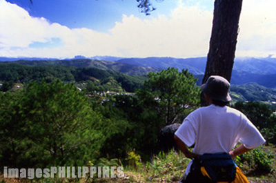 View of the Cordillera mountains along the trail up Mt. 