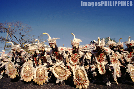 """Dinagyang Festival participants wearing Duck 