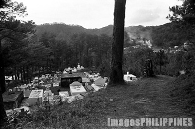 Walking path inside the Christian cemetery in Sagada.,  Place Taken: Mountain Province take on  Date Taken: 2002