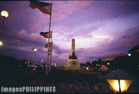 """Rizal Monument after Sundown""