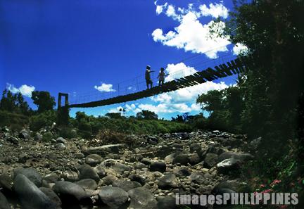 """""""Hanging Bridge"""",  Place Taken: Sariaya, Quezon take on  Date Taken: 2000"""