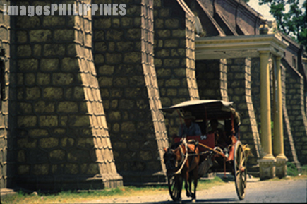 """Caretela beside the Vigan Cathedral""
