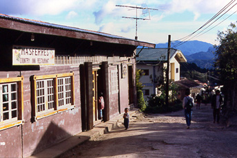 Street scene outside the Masferre Cafe.