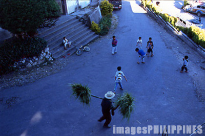 Street scene near the Sagada Town Center.