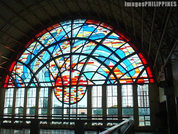 """""""Stained Glass Windows in UP Bahay ng Alumni"""",  Place Taken: Metro Manila take on  Date Taken: 2003"""