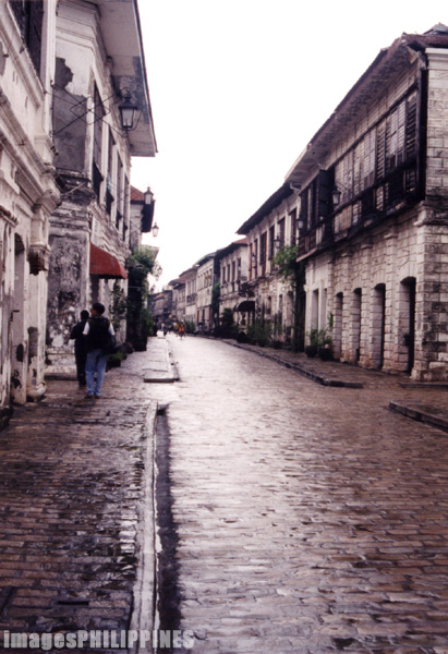 """""""Vigan Street"""",  Place Taken: Ilocos Sur take on  Date Taken: 2001"""