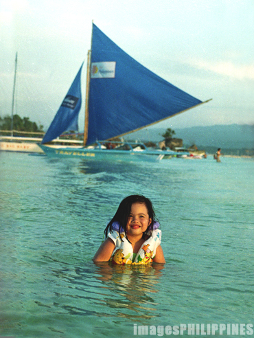 """Girl at the White Beach"",  Place Taken: Boracay, Aklan take on  Date Taken:  2002"