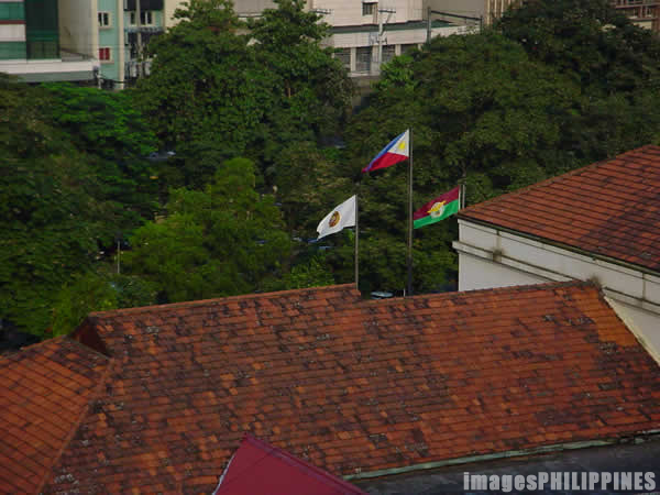 �Aerial view of Flags over PGH�