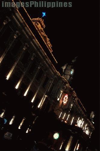 """""""Nightshot of UST Main Building"""",  Place Taken: Metro Manila take on  Date Taken: 2004"""
