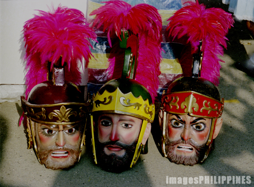 """Three Moriones Heads"",  Place Taken: Marinduque take on  Date Taken: 1997"