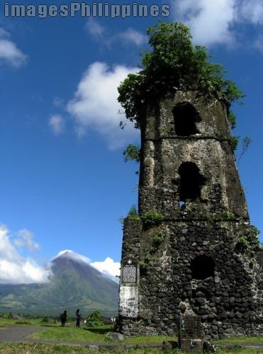 """""""Cagsawa Ruins"""",  Place Taken: Albay take on  Date Taken: 2006"""