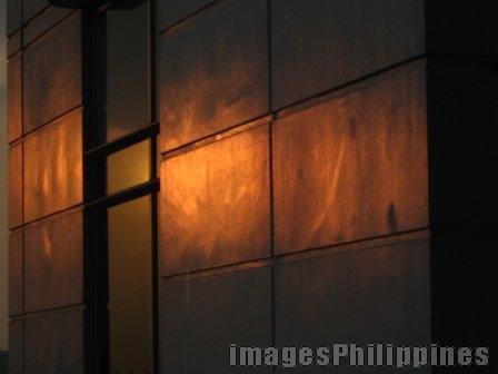 Sunset wall,  Place Taken: Metro Manila take on  Date Taken: 2005