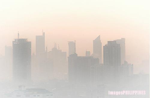 """""""Makati Smog"""",  Place Taken: Metro Manila take on  Date Taken: 2003"""
