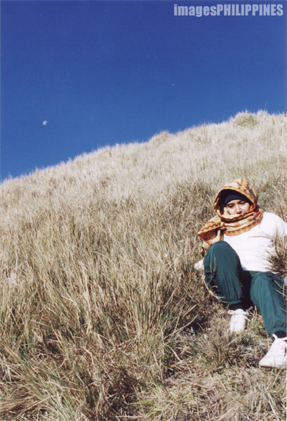 """""""Moon on a Blue Sky in Mt. Pulag"""",  Place Taken: Benguet, Mountain Province take on  Date Taken: 1999"""