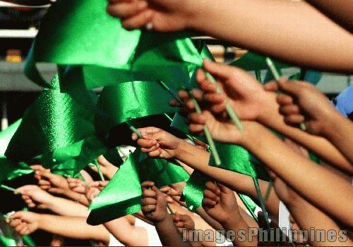 """""""Green Flags"""",  Place Taken: Greenhills, Metro Manila take on  Date Taken: 2005"""