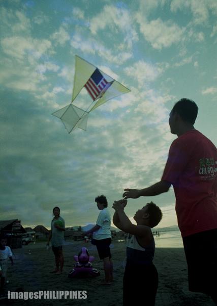"""""""Family (Kite Flying)"""",  Place Taken: Pangasinan take on  Date Taken: 1996"""