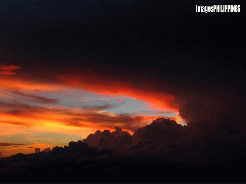 """Apocalyptic Dreams (Mt. Matutum Sunset Cloudscape)"",  Place Taken:  South Cotabato take on  Date Taken: 2004"