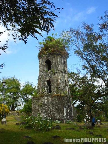 """Cagsawa Ruins"",  Location: Legazpi City take on  Date Taken: 2003"