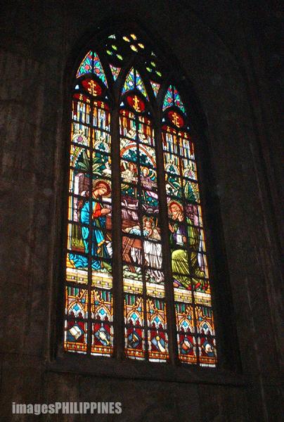 """Stained Glass Windows of Basilica San Sebastian"",  Place Taken: Quiapo Manila take on  Date Taken: 2003"