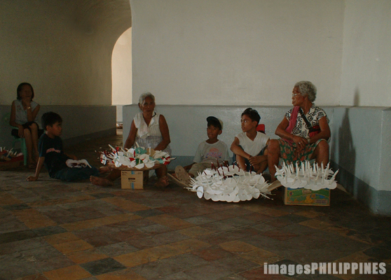"""Candle Vendors in Taal Cathedral"", 