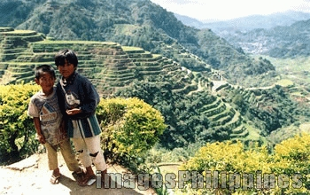 """Banaue Kids and Rice Terraces"", 