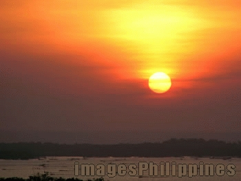 """100 island sunset"", 