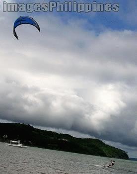 """Bulabog beach boracay kitesurfer"",  Place Taken: Boracay, Aklan take on  Date Taken: 2004"