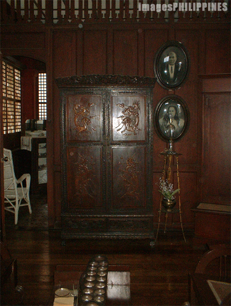 �Antique Cabinet inside the Don Felipe Agoncillo , 