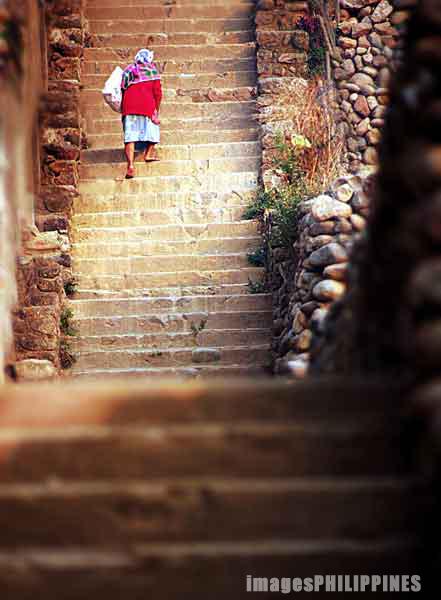 """Igorot Stairway"",  Place Taken: Mountain Province take on  Date Taken: 2002"