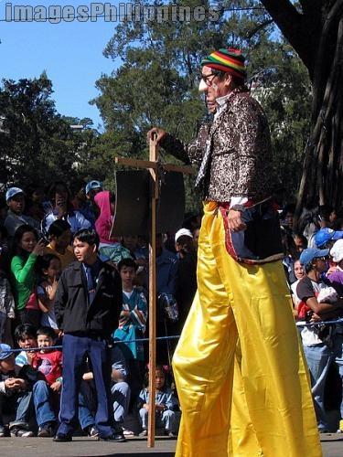 """Clown on Stilts"",  Place Taken: Baguio take on  Date Taken: 2006"