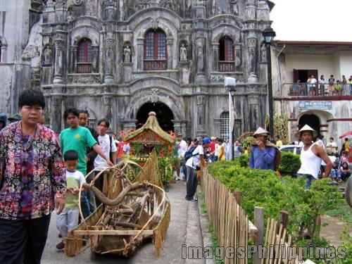 """Lucban Church Scene"", 