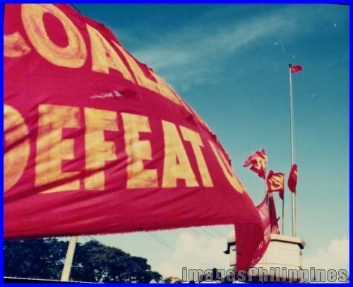 """""""Protest Flags c.1985"""",  Place Taken: Metro Manila take on  Date Taken: 1985"""