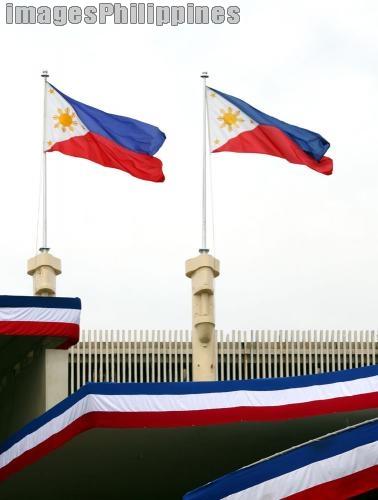 Two Flags,  Place Taken: Metro Manila take on  Date Taken: 2010
