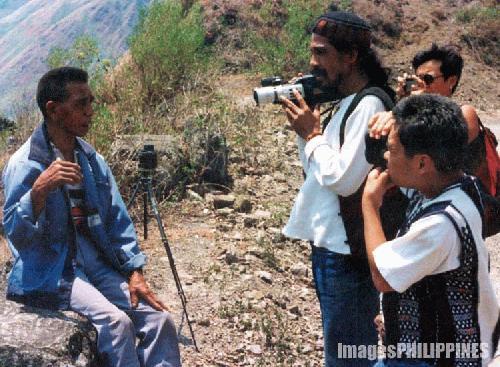 """""""Tribal Leader Mario Yag-Ao Giving a Statement"""" ,  Place Taken: Tinglayan, Kalinga take on  Date Taken: 1993"""