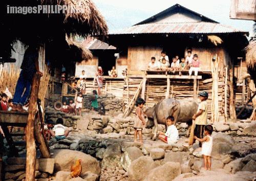 """""""A Village in Kalinga"""",  Place Taken: Bugnay, Tinglayan Kalinga take on  Date Taken: 1993"""