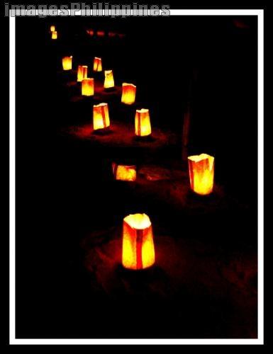 """""""Paper Bag Beach Lanterns"""",  Place Taken: Laiya, Batangas take on  Date Taken: 2005"""