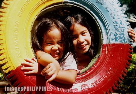 """""""Leanna & Bianca"""" ,  Place Taken: Isla Parilla, Sarangani Province take on  Date Taken: 2004"""