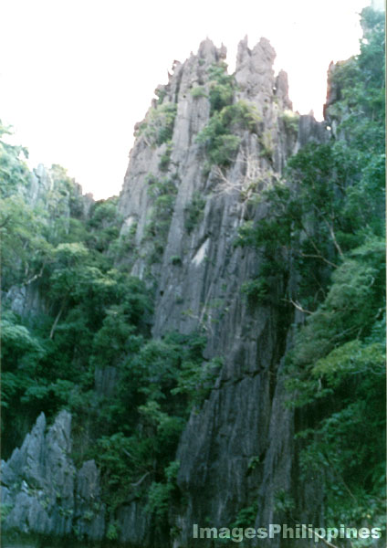 Limestone rock formation El Nido