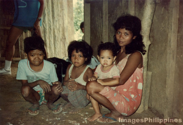 Mangyan family in Mindoro