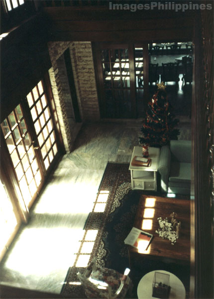 Interior of a modern house in the early morning