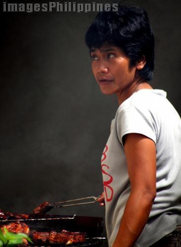 """""""Barbeque Tindera"""",  Place Taken: Cavite take on  Date Taken: 2009"""