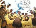 """Coconut Festival Children"", Photographer/Artist: Nestor Santiago, Date Taken:  2001, Place Taken: San Pablo, Laguna,"