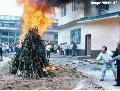 """Marijuana Burning"" , Photographer/Artist: Art Tibaldo, Date Taken: 1998, Place Taken: Benguet"